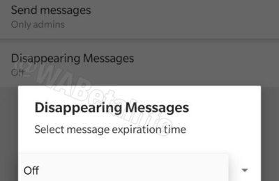 WhatsApp : Comment utiliser les messages qui disparaissent (lors de leur lancement)