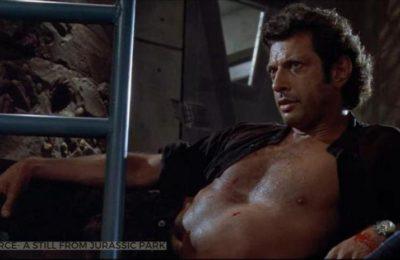 Jeff Goldblum recrée la scène de Malcolm sans chemise de Jurassic Park en une nouvelle photo